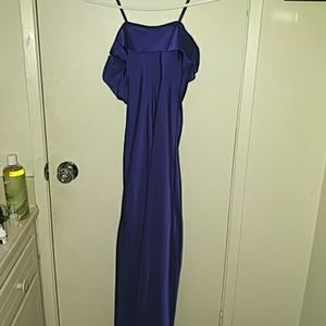 Ralph Lauren blue gown xs petite gorgeous formal b